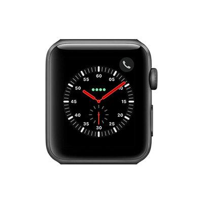 イオシス Apple Watch Series3 42mm GPS+Cellularモデル MR302J/A A1891【スペースグレイアルミニウムケース/グレイスポーツバンド】