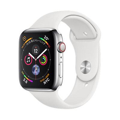 イオシス|Apple Watch Series4 GPS + Cellularモデル 44mm NTX02J/A 【ステンレススチール/ホワイトスポーツバンド】