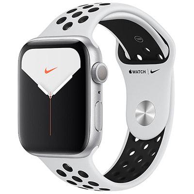 イオシス|Apple Watch Nike+ Series5 44mm GPSモデル MX3V2J/A A2093【シルバーアルミニウムケース/ピュアプラチナム ブラックNikeスポーツバンド】