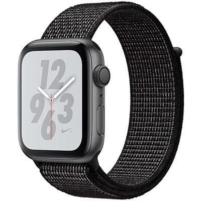 イオシス|Apple Watch Nike+ Series4 GPSモデル 44mm MU7J2J/A [スペースグレイアルミニウム/ブラックNikeスポーツループ]