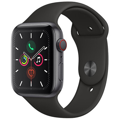 イオシス|Apple Watch Series5 44mm GPS+Cellularモデル MWWE2J/A A2157【スペースグレイアルミニウムケース/ブラックスポーツバンド】
