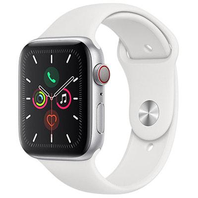 イオシス|Apple Watch Series5 44mm GPS+Cellularモデル MWWC2J/A A2157【シルバーアルミニウムケース/ホワイトスポーツバンド】