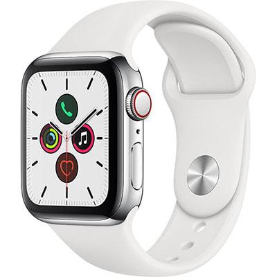 イオシス|Apple Watch Series5 40mm GPS+Cellularモデル MWX42J/A【ステンレススチールケース/ホワイトスポーツバンド】