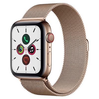 イオシス|Apple Watch Series5 44mm GPS+Cellularモデル MWWJ2J/A A2157【ゴールドステンレススチールケース/ゴールドミラネーゼループ】