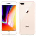 【SIMロック解除済】【ネットワーク利用制限▲】au iPhone8 Plus 256GB A1898 (MQ9Q2J/A) ゴールド