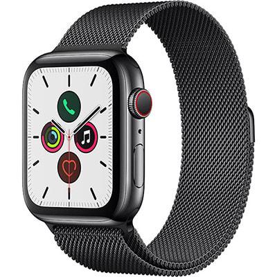 イオシス|Apple Watch Series5 44mm GPS+Cellularモデル MWWL2J/A A2157【スペースブラックステンレススチールケース/スペースブラックミラネーゼループ】