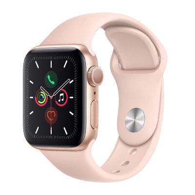 イオシス|Apple Watch Series5 40mm GPSモデル MWV72J/A A2092【ゴールドアルミニウムケース/ピンクサンドスポーツバンド】