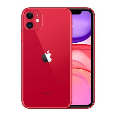 イオシス|【SIMロック解除済】docomo iPhone11 A2221 (MWLV2J/A) 64GB レッド