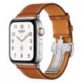 Apple Watch Hermes Series4 44mm GPS+Cellularモデル MUH02J/A A2008【ステンレススチールケース/シンプルトゥールディプロイアントバックル ヴォー・バレニア(フォーヴ)レザーストラップ】