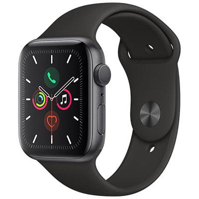 イオシス|Apple Watch Series5 44mm GPSモデル MWVF2J/A A2093【スペースグレイアルミニウムケース/ブラックスポーツバンド】