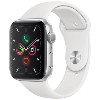 イオシス|Apple Watch Series5 44mm GPSモデル MWVD2J/A A2093【シルバーアルミニウムケース/ホワイトスポーツバンド】