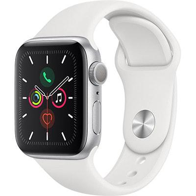イオシス|Apple Watch Series5 40mm GPSモデル MWV62J/A A2092【シルバーアルミニウムケース/ホワイトスポーツバンド】