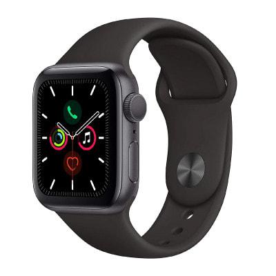 イオシス|Apple Watch Series5 40mm GPSモデル MWV82J/A A2092【スペースグレイアルミニウムケース/ブラックスポーツバンド】