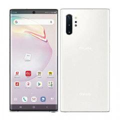【SIMロック解除済】【ネットワーク利用制限▲】docomo Galaxy Note10+ (Plus) SC-01M Aura White