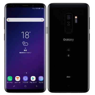 イオシス|【SIMロック解除済】【ネットワーク利用制限▲】au Galaxy S9+ SCV39 Midnight Black