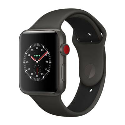 イオシス|Apple Watch Edition Series3 42mm GPS+Cellularモデル MQM62J/A A1891【グレイセラミックケース/グレイ ブラックスポーツバンド】