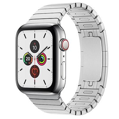イオシス|Apple Watch Series5 44mm GPS+Cellularモデル MWR32J/A+MUHL2FE/A A2157【ステンレススチールケース/シルバーリンクブレスレット】