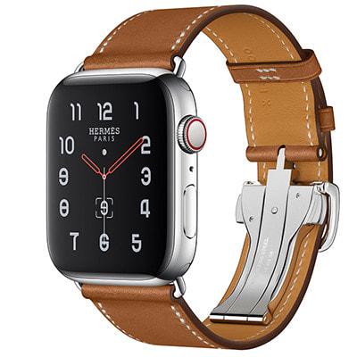 イオシス|Apple Watch Hermes Series5 44mm GPS+Cellularモデル MWRA2J/A+MTQF2FE/A A2157【ステンレススチールケース/シンプルトゥールディプロイアントバックル ヴォー・バレニア(フォーヴ)レザーストラップ】