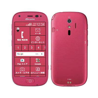 イオシス 【SIMロック解除済】docomo らくらくスマートフォン4 F-04J ピンク