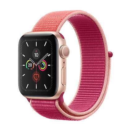 イオシス|Apple Watch Series5 40mm GPSモデル MWRY2J/A+MWTR2FE/A A2092【ゴールドアルミニウムケース/ポメグラネットスポーツループ】