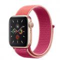 Apple Watch Series5 40mm GPSモデル MWRY2J/A+MWTR2FE/A A2092【ゴールドアルミニウムケース/ポメグラネットスポーツループ】
