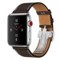 Apple Watch Hermes Series3 42mm GPS+Cellularモデル MQMV2J/A A1891【ステンレススチールケース/シンプルトゥールディプロイアントバックル ヴォー・バレニア(エベーヌ)レザーストラップ】