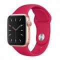 Apple Watch Series5 44mm GPSモデル MWT42J/A+MWU02FE/A A2093【ゴールドアルミニウムケース/ポメグラネットスポーツループ】