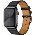 Apple Watch Hermes Series5 44mm GPS+Cellularモデル MX3K2J/A A2157【スペースブラックステンレススチールケース/シンプルトゥール ヴォー・スウィフト(黒)レザーストラップ】