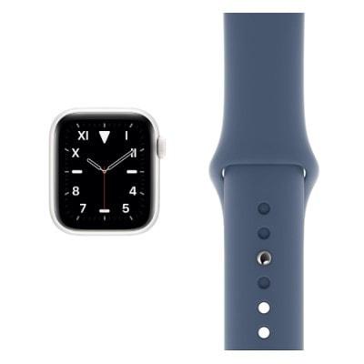 イオシス Apple Watch Edition Series5 44mm GPS+Cellularモデル MWR72J/A+MX0M2FE/A A2157【ホワイトセラミックケース/アラスカンブルースポーツバンド】
