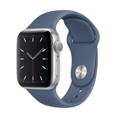 イオシス|Apple Watch Series5 40mm GPSモデル MWRX2J/A+MX0L2FE/A A2092【シルバーアルミニウムケース/アラスカンブルースポーツバンド】