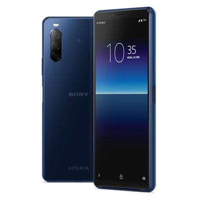 イオシス|Sony Xperia10 Ⅱ Dual-SIM XQ-AU52 Blue【RAM4GB ROM128GB/海外版SIMフリー】【ACアダプタ欠品】