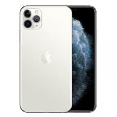 【SIMロック解除済】【ネットワーク利用制限▲】au iPhone11 Pro Max A2218 (MWHP2J/A) 512GB シルバー