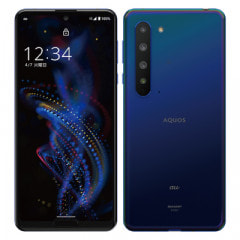 【SIMロック解除済】au AQUOS R5G SHG01 Earth Blue