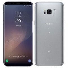 【SIMロック解除済】【ネットワーク利用制限▲】au SAMSUNG Galaxy S8+ (Plus) SCV35 Arctic Silver