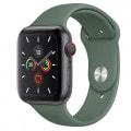 Apple Watch Series5 44mm GPS+Cellularモデル MWR12J/A+MWUV2FE/A A2157【スペースグレイアルミニウムケース/パイングリーンスポーツバンド】