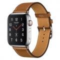 Apple Watch Hermes Series5 40mm GPS+Cellularモデル MX5M2J/A A2156【ステンレススチールケース/シンプルトゥール ヴォー・バレニア(フォーヴ)レザーストラップ】