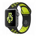 Apple Watch Nike+ Series2 38mm MP0J2J/A A1757【スペースグレイアルミニウムケース/ブラック ボルトNikeスポーツバンド】