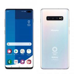 【SIMロック解除済】docomo Galaxy S10+ (Plus) (Olympic Games Edition)  SC-05L  プリズムホワイト