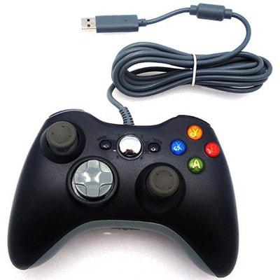 イオシス 【Xbox配列で機能的】 PC用USB接続 ゲームパッド ブラック 【振動機能対応】