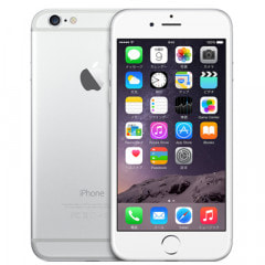 au iPhone6 128GB A1586 (MG4C2J/A) シルバー